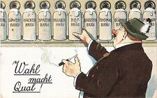 Antique German Beer Wahl Macht Qual Postcard Used 1925 w/ Deutsches Reich 15 Pf