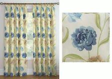 floral bleu crème vert beige 117x229cm (117 x 229cm) Rideau plissé