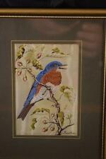 STUNNING CASHS WOVEN EASTERN BLUEBIRD PICTURE JACQUARD LOOM ARTISTRY COVENTRY