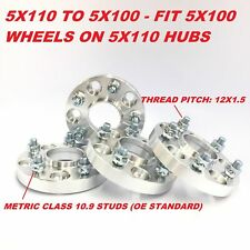 "4pc Hub Centric Wheel Adapters Spacers 5x110 to 5x100 12X1.5 ¦ 32mm 1.25"" Inch"