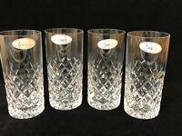 "Set of 4 Ceska Crystal Tumblers Ice Tea Canterbury, 5 1/2"" Tall, 2 1/2"" Diameter"