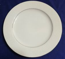 """Vintage BRENTWOOD Fine China WHITE LACE 10.25"""" Dinner Plate"""