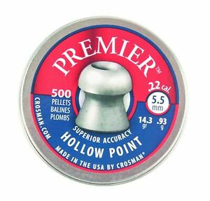 Crosman Premier .22 / 5.5mm Hollow Point Pellets - Choose Quantity