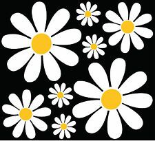 Daisy Flower sticker set  car camper retro art VW easy apply diy custom pack
