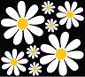 Daisy Flower sticker set  car camper retro art VW easy apply diy custom pack