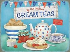 New 30x40cm Delicious Cream Teas retro large metal advertising wall sign