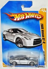 Hot Wheels 2009 New Models #01 2009 Nissan GT-R Silver MOC VHTF 10 spoke wheels