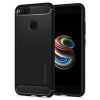 For Xiaomi Mi A1/ 5X I Spigen® [Rugged Armor] Black Shockproof TPU Cover Case
