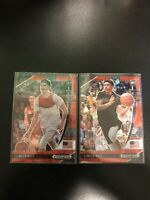 2020-21 Prizm Draft Picks Lamelo Ball Rookie Rc Red Prizm Cracked Ice Lot Of (2)