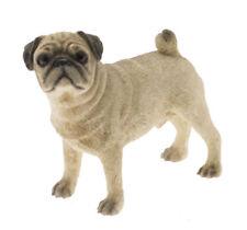 Fine Quality Cute Tan and Black Pug Dog Ornament/Figurine.Leonardo.Gift Boxed