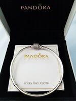 Pandora Signature Clasp Bracelet Sterling Silver W/BOX,#590723CZ