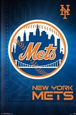 NEW YORK METS - LOGO POSTER - 22x34 MLB BASEBALL 14689