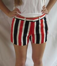 JUICY COUTURE Sateen Stripe Shorts Red, White & Blue Size 4 NWT Lined