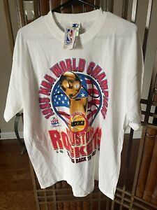 Authentic Vintage Houston Rockets 1995 World Champions Back To Back T Shirt L