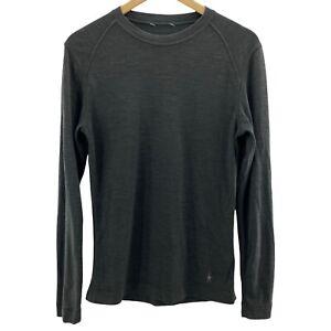 SmartWool Womens Medium Green Sweater Merino Long Sleeve Pullover Top M *
