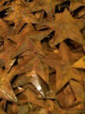 "Lot 100 Rusty Barn Stars 2.25 in 2 1/4"" Primitive Country Rusted Rust **"