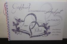 Gästebuch zur Hochzeit , hell lila