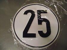 25 km/h Schild - Metall - neu