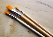 Three Loxley Taklon Artists Brushes for Washes & Glazes, Soft & Springy