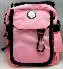 CMC URBAN PACK™ Pink Cancer Ribbon Bag 7 Compartments 6 zippered Travel Golf NEW