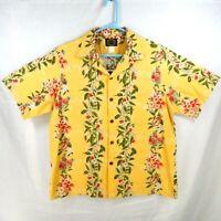 Hawaiian Reserve Collection Yellow Mens XL Pineapple & Ukulele Aloha Shirt