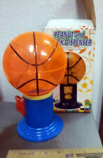 Plastic Basketball peanut snack gumball dispenser, fun kids collectible item NEW