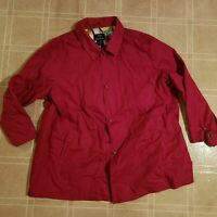 Dennis by Dennis Basso Women's 3XL Jacket - Button Down - Trench Coat Style