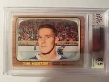 1966-67 Topps Hockey #80 Tim Horton (Maple Leafs) BVG 8.5 NM-MT+ (Box DP)