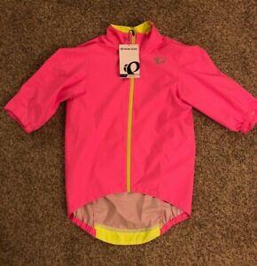 Pearl iZumi Neon Pink Pro SS Rain Biking Jacket M NWT