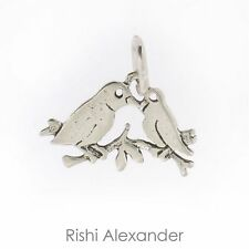 925 Sterling Silver Love Birds Charm Made in USA