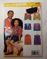 New Look 6158 Size 3-8 Children's Vest