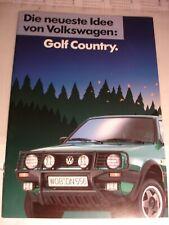 Prospekt Verkaufsprospekt VW Golf Country Syncro Sondermodell