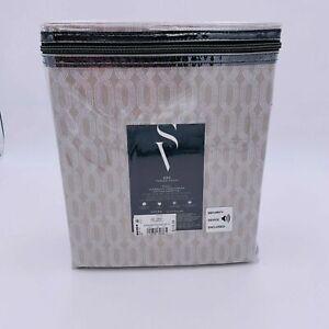 Simply Vera Vera Wang 4 Pc Sheet Set 100% Cotton 600 Tc Gray Size Full MSRP $119