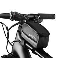 Cateye MTB Road Bike Bag Cycling Top Tube Frame Bag Reflective Portable Black