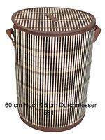Bambus Wäschekorb Aufbewahrungsbox Wäschetruhe Wäschebox Wäschesammler KorbLN410