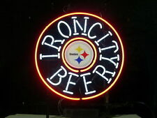 "New Iron City Pittsburgh Steelers Neon Light Sign 16""x16"""