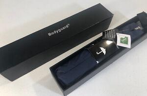 BODYGUARD Teflon Travel Umbrella, Blue Compact Folding Automatic w/ Gift Box NEW