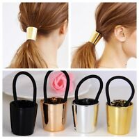 Chic Woman Girls Elastic Ponytail Holder Hair Cuff Wrap Tie Band Ring Rope