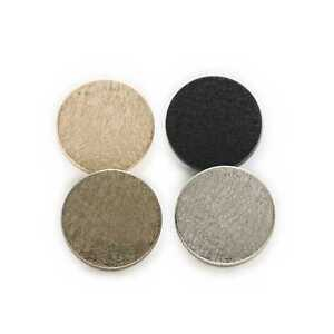 5pcs Round Metal Shank Buttons Leather Clothing Luggage Sewing Handword Decor