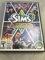 The Sims 3 Ambitions PC Game Complete Windows Mac 2010 Expansion
