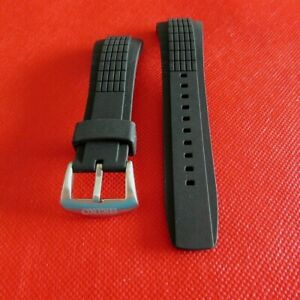 NEW REPLACEMENT VELATURA  RUBBER WATCH BAND BLACK 26mm FIT FOR SEIKO VELATURA