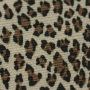 """TEMPO CAPETOWN NATURAL LEOPARD CHEETAH VELVET MULTIUSE FABRIC BY YARD 56""""W"""