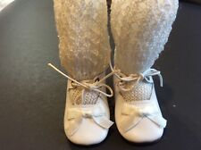 3� White Leather Shoes for Antique, Vintage or Modern Doll
