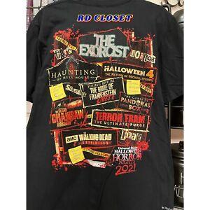 Universal Studios Hollywood 2021 Halloween Horror Nights Haunted House Shirt. L