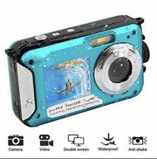 PowerLead Double Screens Waterproof Digital Camera 2.7-Inch Front LCD with Easy