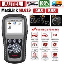 Check Engine ABS SRS Airbag OBD2 Diagnostic Scanner Autel ML619 as ML629 AL619