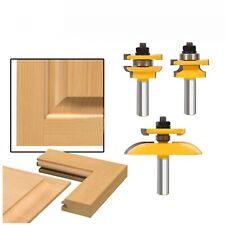"3 Bit 1/2"" Shank Rail & Stile Ogee Cabinet Door Router Set Woodwork Power Tools"