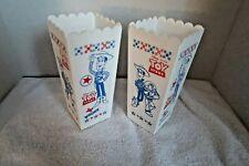 New listing Disney Pixar Toy Story movie plastic popcorn containers (2) Woody Jessie Buzz