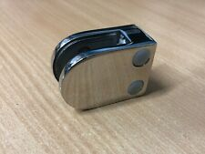 GLASS CLAMPS / CLIPS FOR 8 - 10mm GLAZING. MIRROR POLISH Stainless Steel Finish