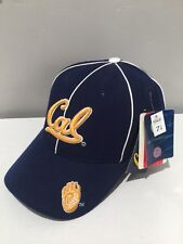 U.C BERKELEY CAL BEARS blue bear paw fitted cap baseball hat 7 1/8 licensed RARE